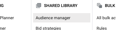 Google Ads Audience Manager Option